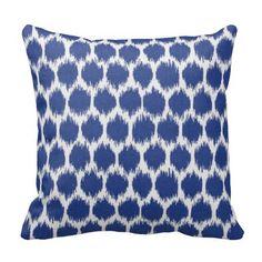 Outdoor Ikat Pillows,Outdoor Throw Pillows,Patio Pillows,Blue Pool Pillows, Pillow Covers, Outside Pillows, Pillows for Patio