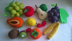 Купить Фрукты,Овощи и Ягоды(из фетра) - овощи из фетра, фрукты из фетра, еда из фетра