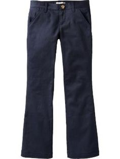 Girls Stretch-Khaki Uniform Pants - Shell make the grade in and out of the classroom in this school-uniform essential. Smooth twill chinos have a hint of stretch for a comfortable fit.