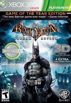 Batman: Arkham Asylum - Game of the Year Edition --- http://www.amazon.com/Batman-Arkham-Asylum-Edition-Xbox-360/dp/B003C1I0CO/?tag=na0d6d-20