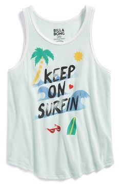 Billabong 'Keep On Surfing' Graphic Tank (Big Girls) available at #Nordstrom