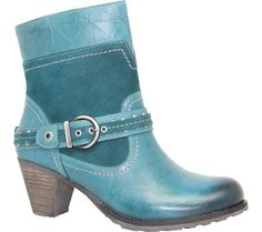 019c25f8895 Dromedaris Farrah Boot - Teal Leather with FREE Shipping   Exchanges. Farrah  is a short. Shoes.com