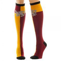 Amazon.com: Harry Potter Gryffindor Crest Knee High Socks: Clothing #ad