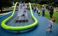 Dallas Parks with the Best Playgrounds for Kids - Parks for Downtown Dallas Modern Playground, Playground Slide, Playground Design, Backyard Playground, Outdoor Play Equipment, Outdoor Gym, Workout Stations, Wooden Playset, Sport Park