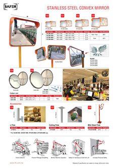 Stainless steel Convex Mirror Storage Rack, Storage Shelves, Gondola Shelving, Ladder Display, Aluminium Ladder, Convex Mirror, Racking System, Acrylic Display, Stainless Steel