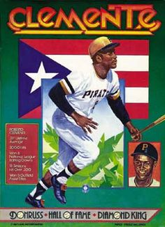 Roberto Clemente. Painted by Don Russ