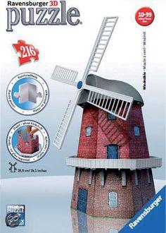 bol.com   Ravensburger 3D Puzzel - Windmolen   Speelgoed