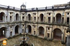 Visit the Convent of Christ in Tomar and be amazed with its beautiful cloisters.