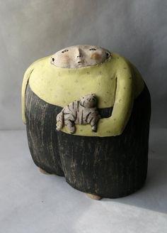 ceramic sculpture by Anne-Sophie Gilloen - sculpture céramique contemporaine (livemaster)
