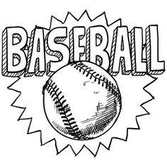 baseball coloring page - Baseball Coloring Pages Printable