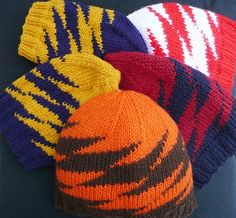 Ravelry: Zportz pattern by Susanna IC Free pattern--knit it in your team colors.  Here at the Stitchin' Den it would be orange and blue.