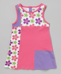 Another great find on #zulily! Carnation Daisy Color Block Dress - Toddler & Girls by Lemon Seed Kids #zulilyfinds