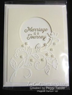 2016 Marriage Is A Journey Flourish Thinlits Card Homemade Wedding Gifts, Homemade Anniversary Gifts, Homemade Cards, Wedding Anniversary Cards, Aniversary Cards, Anniversary Ideas, Horse Cards, Valentine Love Cards, Wedding Cards Handmade