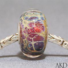 SRA Glass Handmade Lampwork Bead Big Hole European Bracelet Artisan Charm Bead Belly Dancer. $24.00, via Etsy.