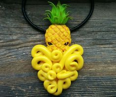 Large or Small Pineapple cthulhu necklace, Octopus pendant, Octopus necklace, Tropical jewelry, Frui Cute Polymer Clay, Cute Clay, Polymer Clay Charms, Polymer Clay Creations, Diy Clay, Polymer Clay Jewelry, Cthulhu, Sculpture Clay, Sculpture Ideas