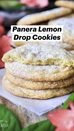 Drop Cookie Recipes, Fun Baking Recipes, Lemon Recipes, Cookie Desserts, Just Desserts, Sweet Recipes, Delicious Desserts, Dessert Recipes, Cooking Recipes