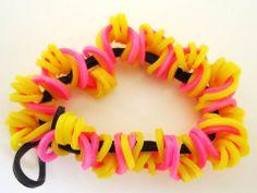 Pulsera de ligas o gomas elásticas/ rubber band bracelets