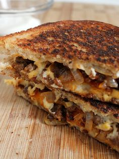 Chorizo y Papas Grilled Cheese...... ground chorizo, sauteed onions, habanero cheddar and American cheeses, and crispy Tater Tots on sliced white bread
