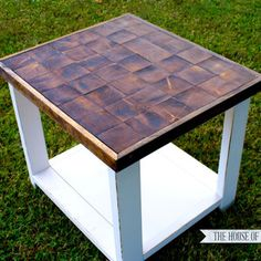 Growth Ring End Table- #DIY Project by House of Wood on Ryobi Nation