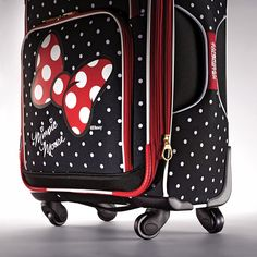American Tourister Disney Minnie Mouse Red Bow Softside Spinner 28, Multi, One Size