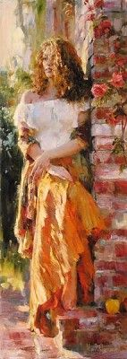 Waiting in the Courtyard by Garmash