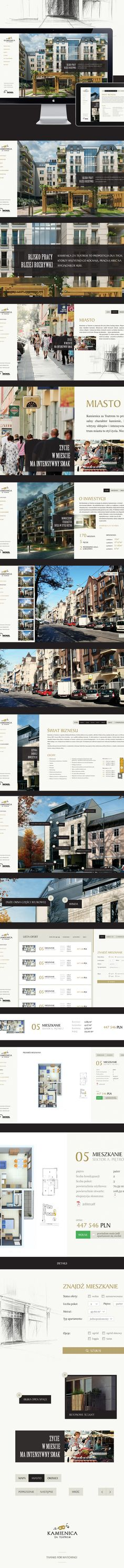 Kamienica za Teatrem - WEB on Behance - just amazing and the navigation and interior page layout is perfection