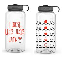 Personalized Tracker Water Bottle, Funny Water Bottle, Large Water Bottle, with Wide Mouth, Workout Gear Flavored Water Bottle, Funny Water Bottle, Large Water Bottle, Water Bottle Design, Medicine Bottle Crafts, Medicine Bottles, Silhouette Projects, Silhouette Cameo, Vinyl On Glass