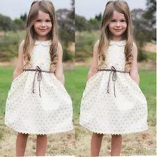 Toddler Kids Baby Girls Summer Dress Sleeveless Princess Party Pageant Dresses