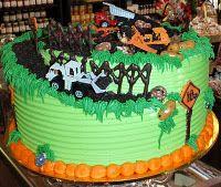 Construction round cake