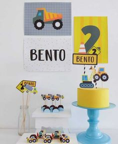 Construction Party Decorations, Construction Birthday Parties, Kids Party Decorations, Birthday Venues, 2nd Birthday Party Themes, Tractor Birthday, Party In A Box, Colorful Party, Party Packs