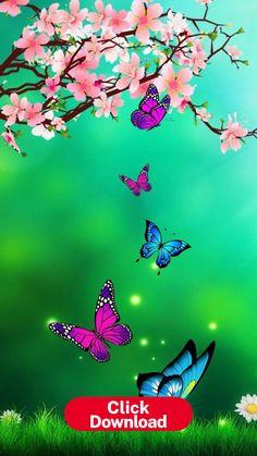 Blue Butterfly Wallpaper, Wallpaper Nature Flowers, Butterfly Background, Flower Background Wallpaper, Flower Phone Wallpaper, Beautiful Flowers Wallpapers, Beautiful Nature Wallpaper, Cute Wallpaper Backgrounds, Pretty Wallpapers