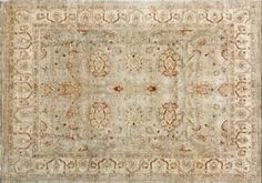 This all natural, hand-knotted rug is a true re-creations of several centuries past. Using only natural hand-spun, hand-dyed pure wool, this rug has the abrush variations in the colors, and has the patina found in old vegetable dye antiques. This rug is remarkable in that the weavers have created a new rug that looks very old.