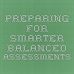 Preparing for Smarter Balanced Assessments