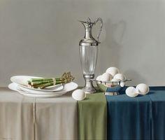 Tony de Wolf | OIL |  Jug, Asparagus and Eggs