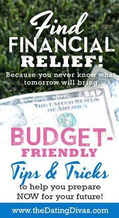FABULOUS Tips & Tricks to Financial Relief. http://www.TheDatingDivas.com #money #budget #finance