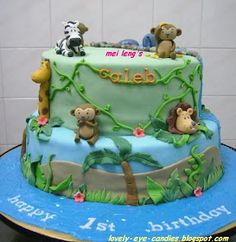 Eye Candies for the Soul: Caleb's Jungle Animals Cake