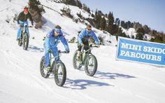 E-Fatbike fahren in Obertauern Bicycle, Vehicles, Ice Climbing, Long Distance, Ski Trips, Winter Vacations, Photo Illustration, Bicycle Kick, Bike
