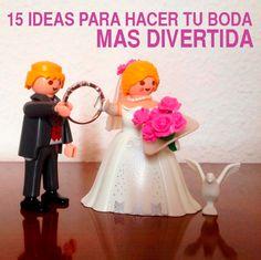 15 IDEAS PARA HACER TU BODA MÁS DIVERTIDA. Ver más en http://www.bodafan.com/consejos/ideas-para-hacer-tu-boda-mas-divertida/
