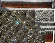 3 Feet of 4MM Swarovski Crystal Rhinestone Chain Clear Silver 19ss. $19.50, via Etsy.