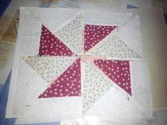 Aprende Patchwork Fácil: Tutorial el Molinillo Quilt Block Patterns, Pattern Blocks, Quilt Blocks, Pinwheel Quilt, Patch Quilt, Handmade Pillows, Pinwheels, Free Pattern, Patches