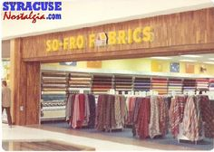 Mall Stores So-Fro Fabrics Fabric Store Front Sweet Memories, Childhood Memories, 1970s Childhood, 80s Interior Design, Dead Malls, Storefront Signs, Retail Signs, Mall Stores, I Remember When