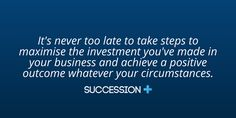 Think strategic. Plan your business for succession.