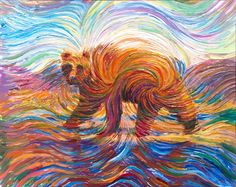 Our Family's Secret Energy Painting - First Time Shown - Walking Bear Spirit