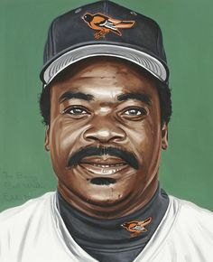 Eddie Murray portrait by Andy Jurinko