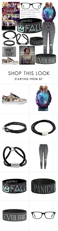 """Legit, I need glasses"" by faerkan ❤ liked on Polyvore featuring Vans, WithChic, NOVICA, River Island and Kensington Road"