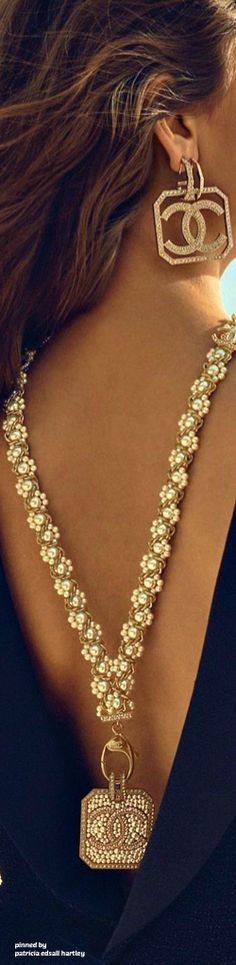 Gold and chanel and pearls