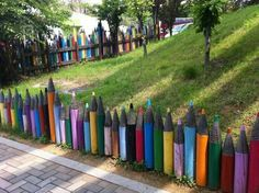 imagine this along the back fence in a child friendly yard? awesome!