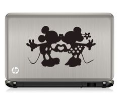 Mickey and Minnie Hand Heart vinyl decal. This decal would be beautiful applied to car windows, walls, mirrors, metal, plastic, wood or any