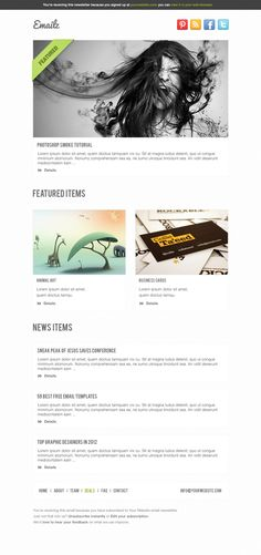 Email Template 3 | Best PSD Freebies    www.bestpsdfreebies.com/freebie/pay-with-a-tweet-friday-free-email-template-psd-with-5-variations/