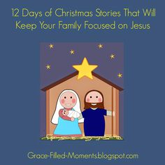 Need some new Christmas stories to read with your children and/or grandchildren this year? Check out my list of 12 Days of Christmas Stories That Will Keep Your Family Focused on Jesus! #Jesusisthereason #Christmasstories